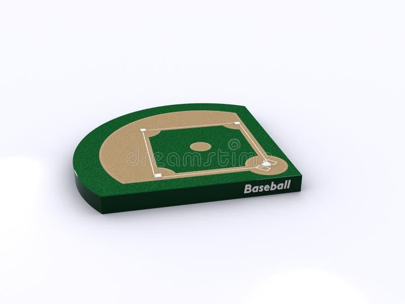 baseballa sąd royalty ilustracja