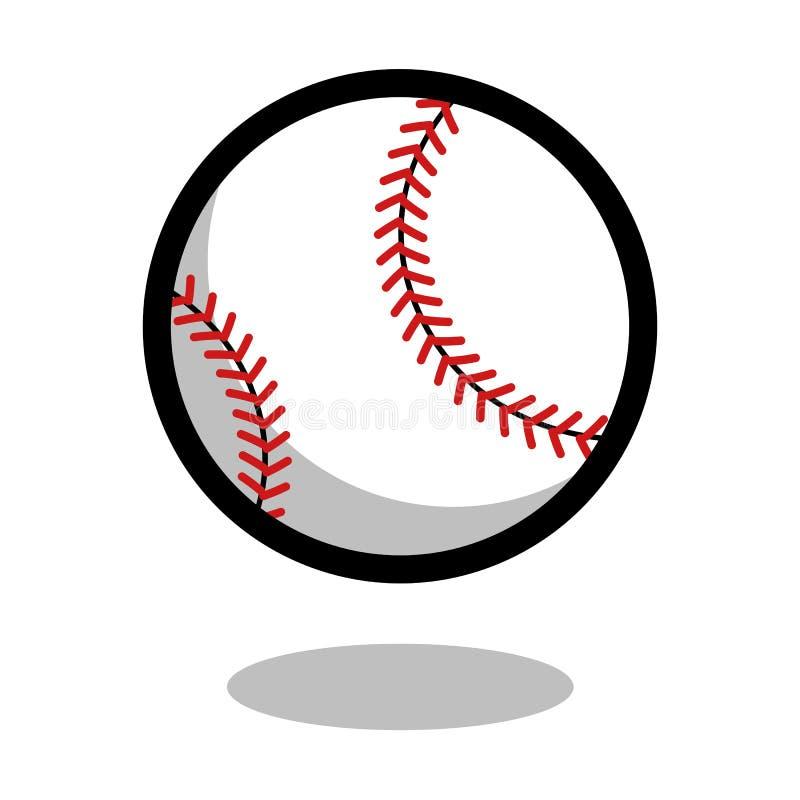 Baseballa softballa sporta loga wektoru linii 3d gry balowa ikona ilustracja wektor