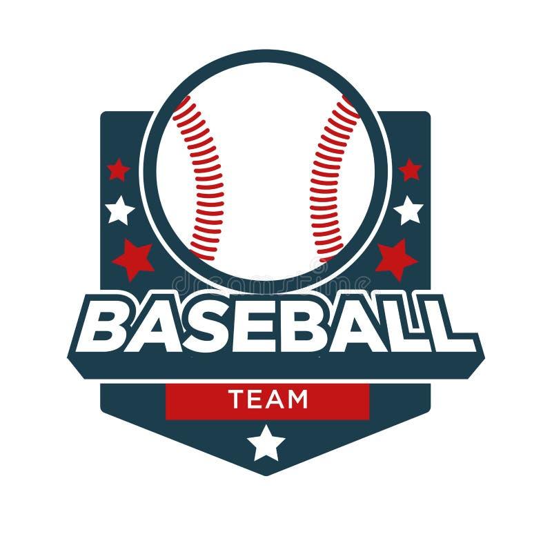 Baseballa sporta drużyny odznaki wektorowa ikona ilustracji