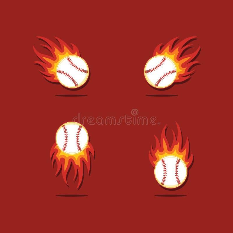 Baseballa szablonu Pożarniczy Wektorowy projekt ilustracji