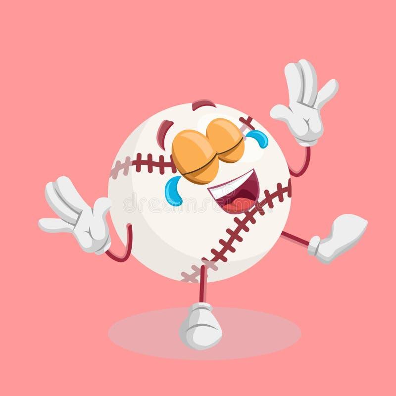 Baseballa tła i maskotki szczęśliwa poza royalty ilustracja