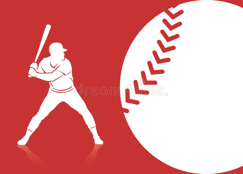 Baseballa tło ilustracji