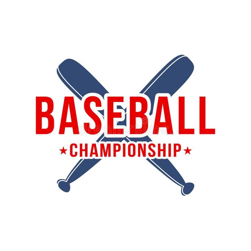 Baseballa tło Kije bejsbolowi z literowaniem Sporta klubu logo, turnieju emblemat, plakatowy projekt royalty ilustracja