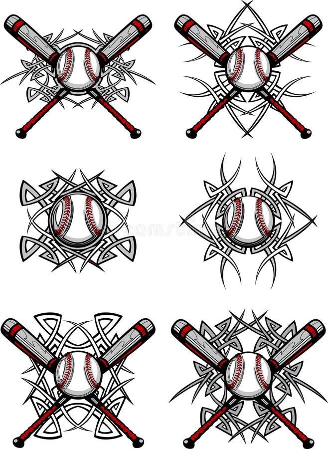 baseballa wizerunków softballa plemienny wektor royalty ilustracja