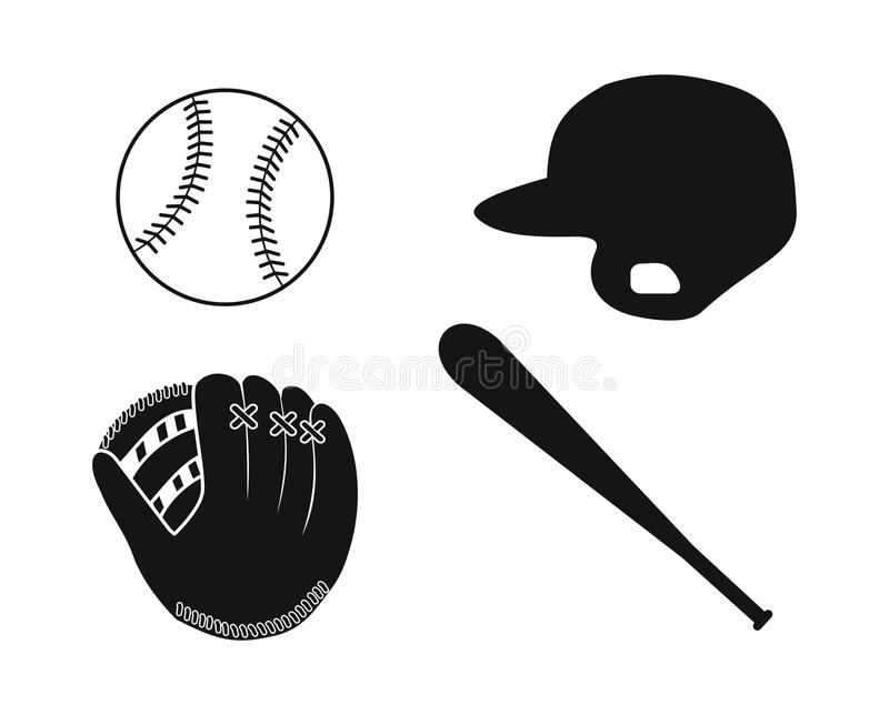 Baseballa wyposażenie royalty ilustracja