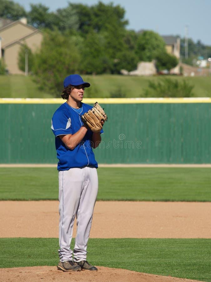baseballa wysoka miotacza szkoła zdjęcie royalty free
