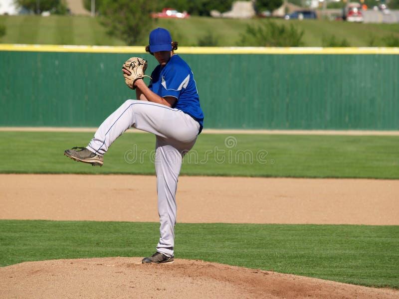 baseballa wysoka miotacza szkoła obraz stock