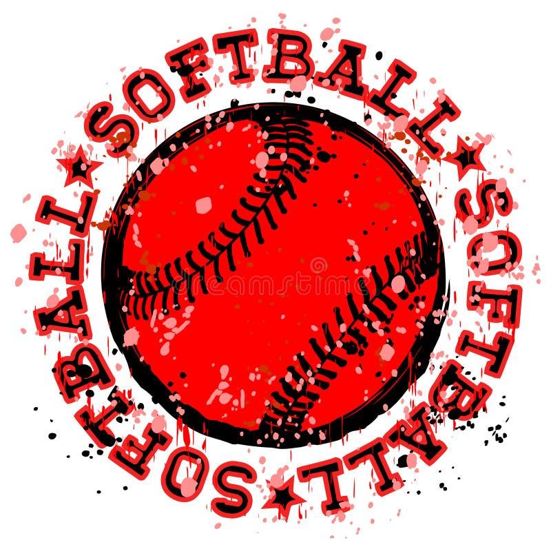 Baseballa znaczek royalty ilustracja