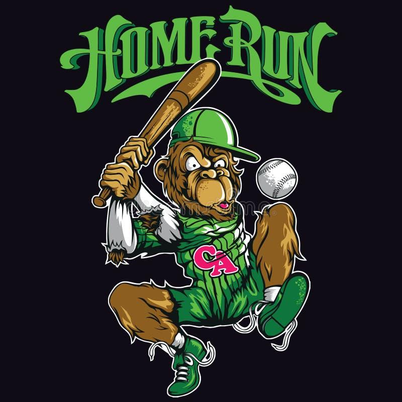 Baseballapa stock illustrationer