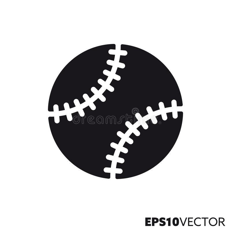 Baseballballvektor Glyphikone vektor abbildung