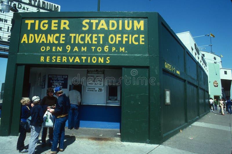 Baseballbiljettbås royaltyfria bilder