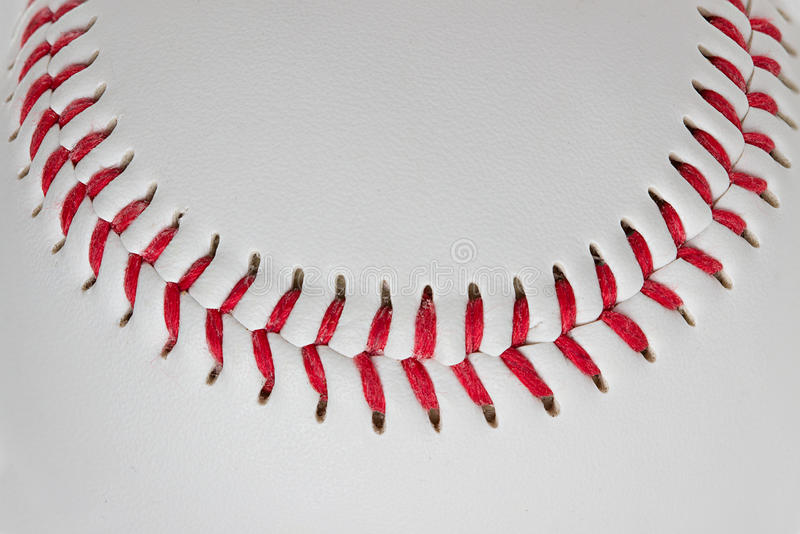 Baseballdetaljnärbild fotografering för bildbyråer