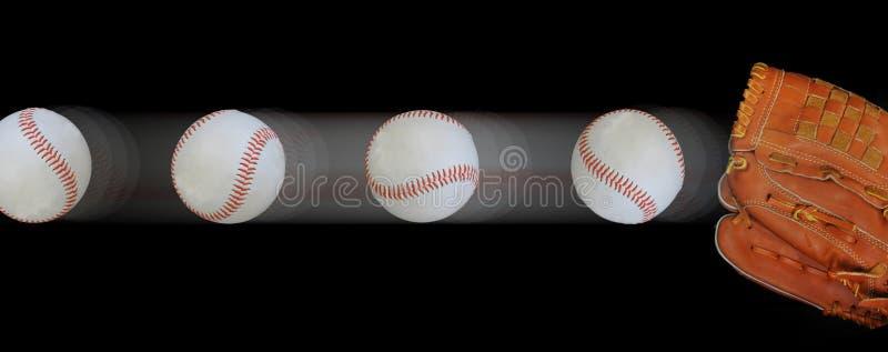 baseballe poścą rękawiczka obrazy stock