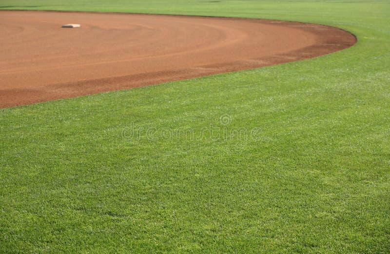 baseballfält för 2 american arkivfoton
