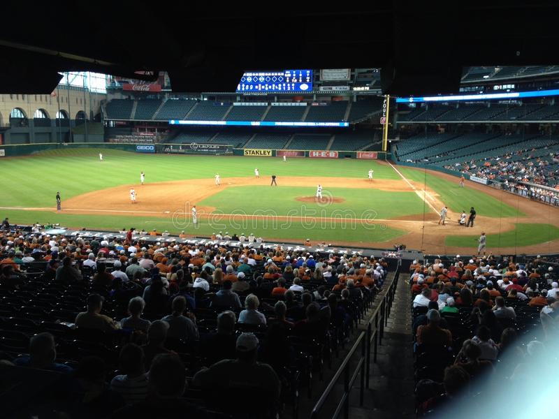Baseballfält Houston royaltyfri foto
