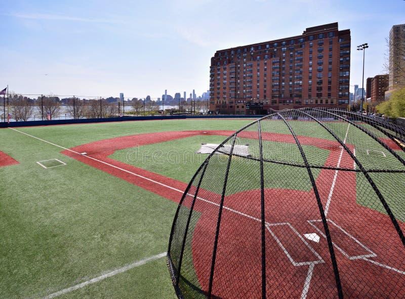 Baseballfält i nytt - ärmlös tröja arkivbilder