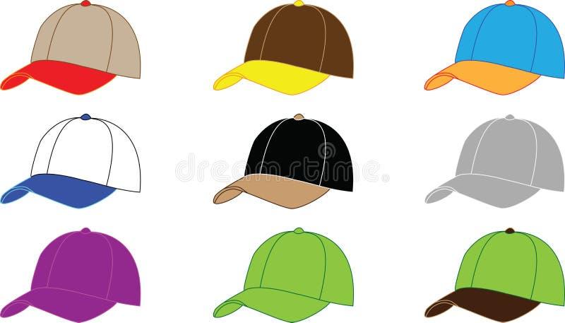 Baseballhüte vektor abbildung