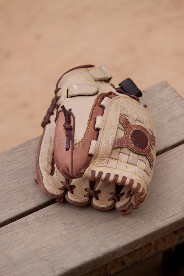 Baseballhandschuh oder Handschuh lizenzfreie stockbilder