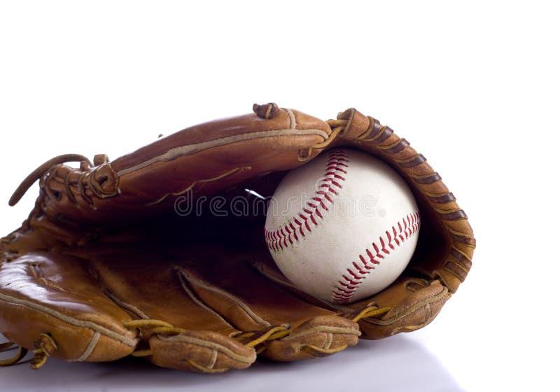 Download Baseballhandschuh Und Kugel Stockbild - Bild von braun, weiß: 9095021
