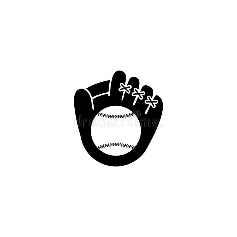 Baseballhandschuhikone lizenzfreie abbildung