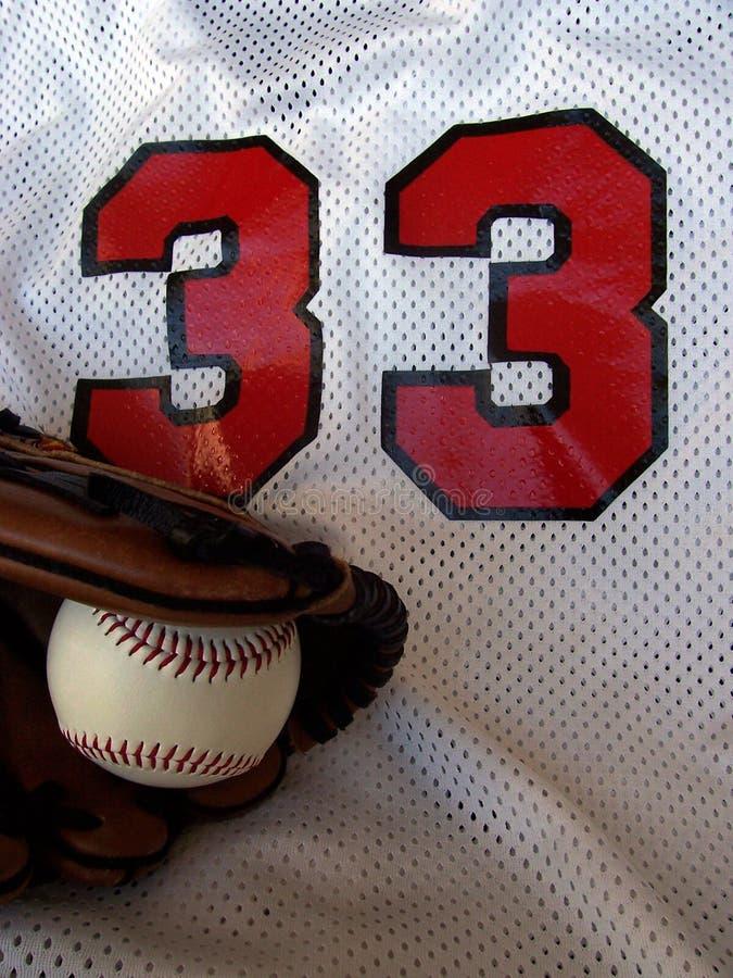 baseballhandske jersey fotografering för bildbyråer