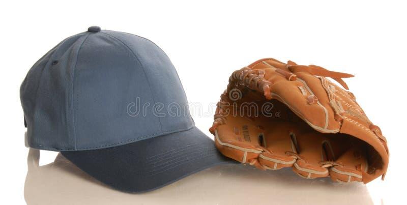 baseballhandskehatt fotografering för bildbyråer