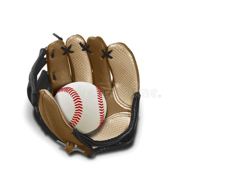 Baseballhandsken och klumpa ihop sig royaltyfria bilder