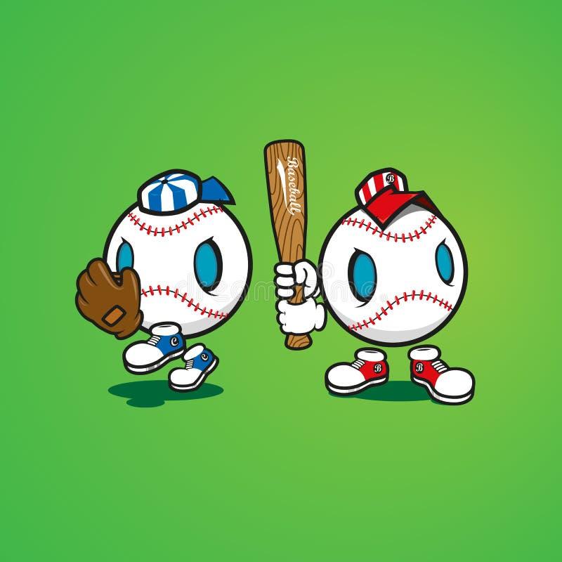 Baseballi charaktery royalty ilustracja