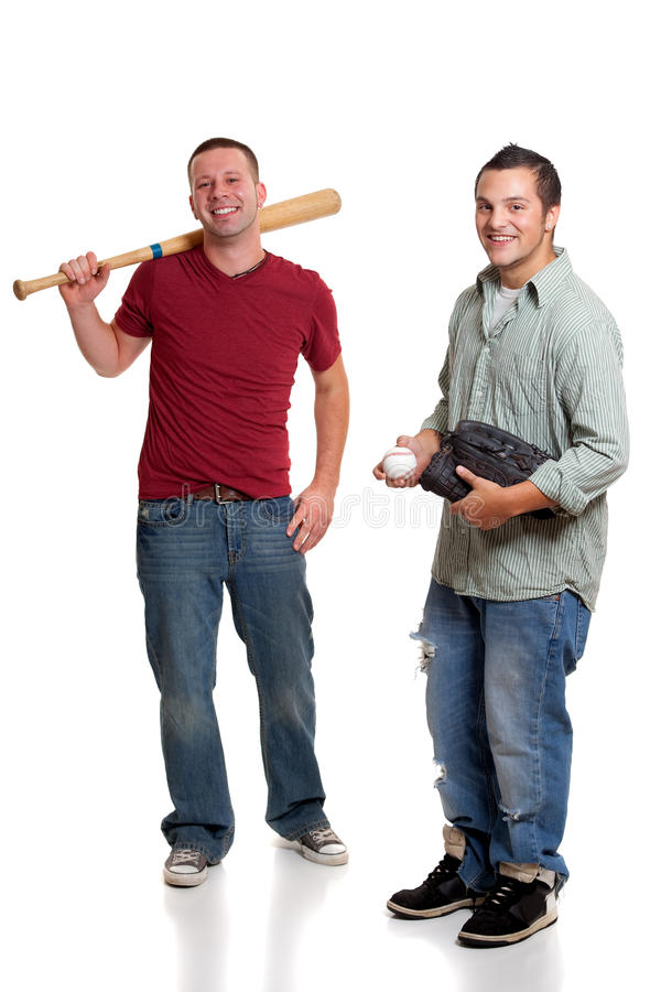 baseballi mężczyzna dwa obrazy stock
