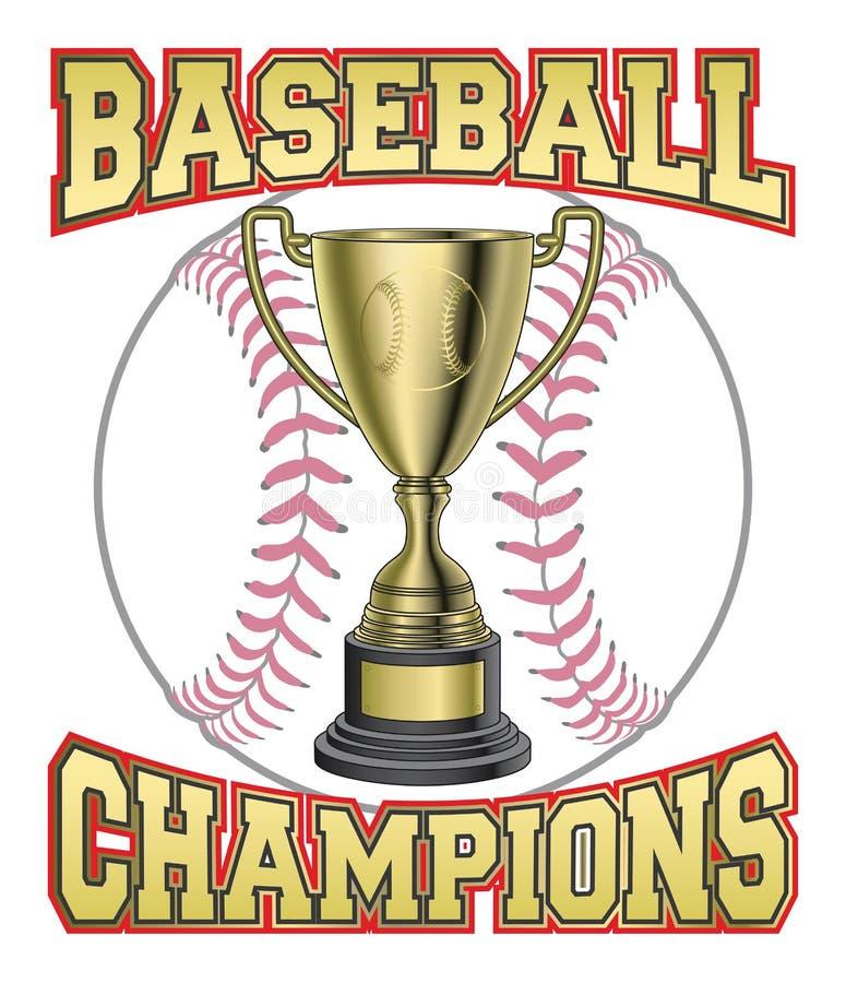 Baseballi mistrzowie ilustracja wektor