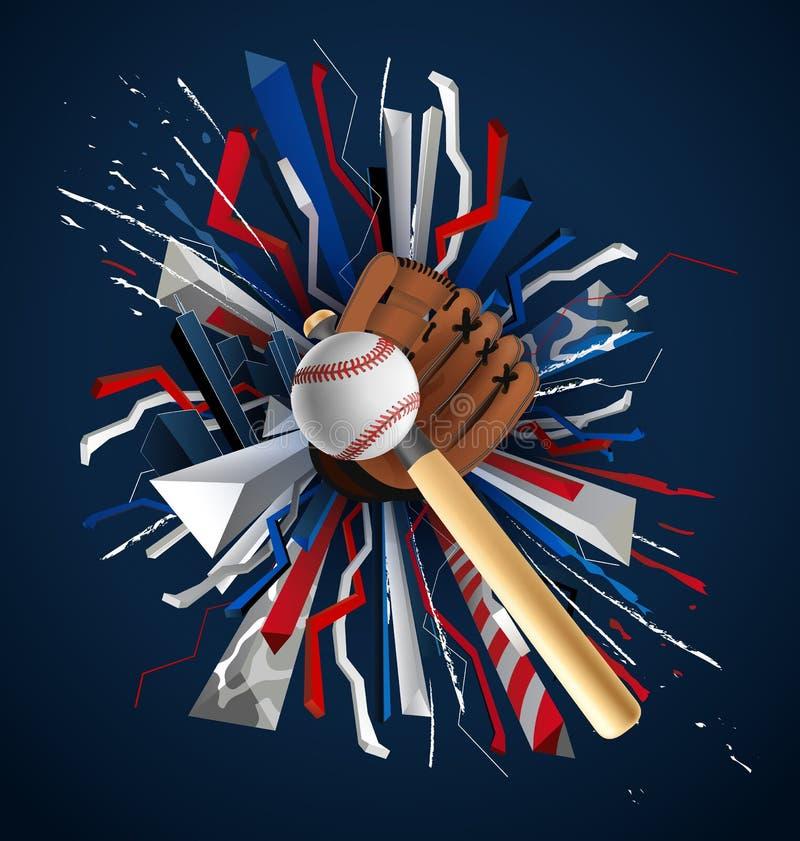 Baseballi sportów turnieju baseballa plakata reklama Sztandar reklama ilustracji