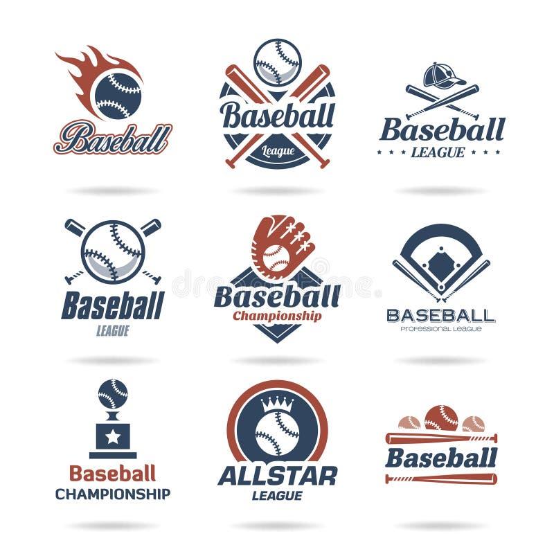 Baseballikone eingestellt - 2 lizenzfreie abbildung