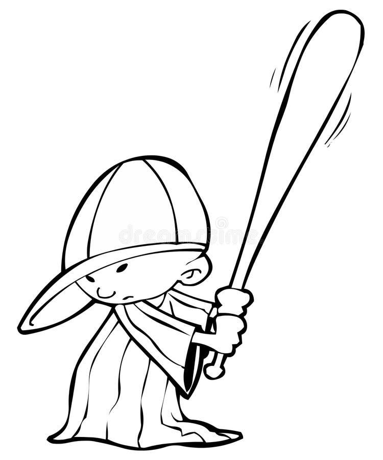 baseballista ilustracja wektor
