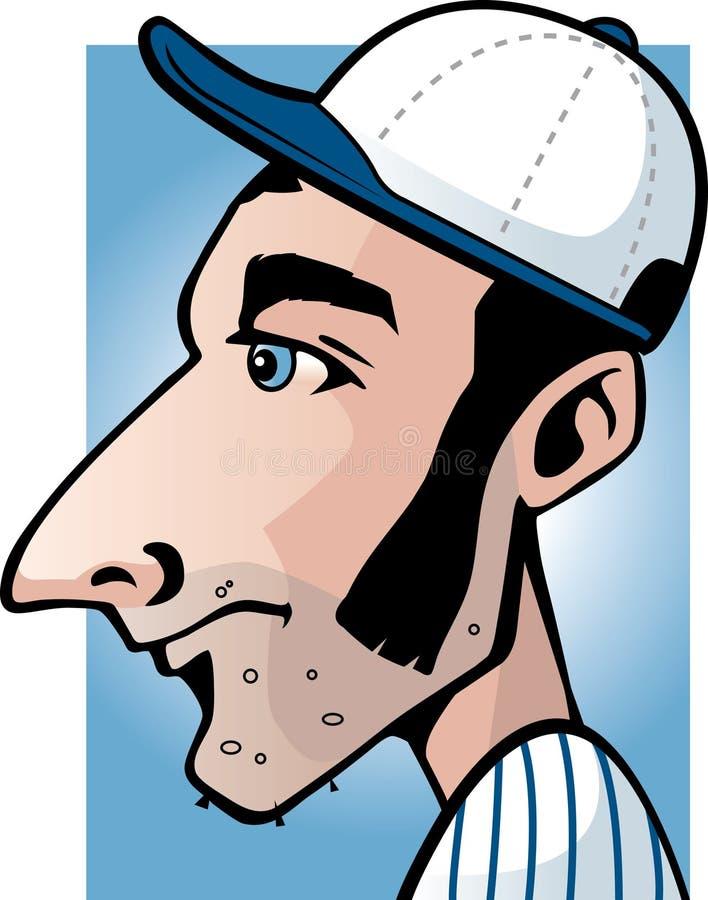 baseballista royalty ilustracja