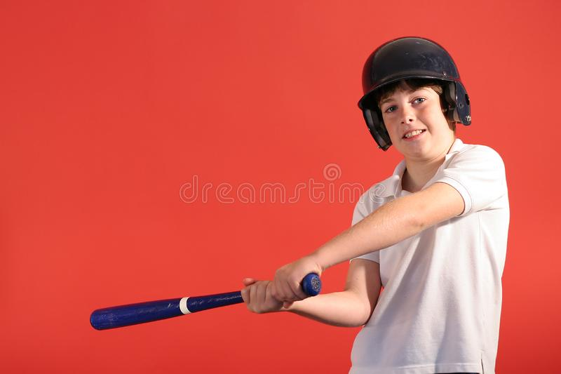Baseballjunge stockfoto