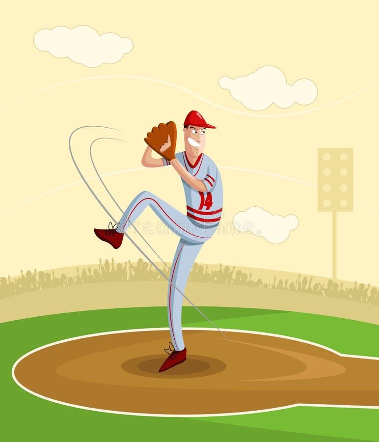 Baseballkanna royaltyfri illustrationer