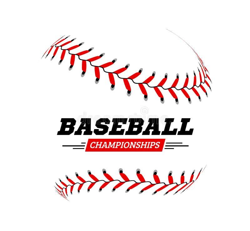 Baseballkugel auf weißem Hintergrund vektor abbildung