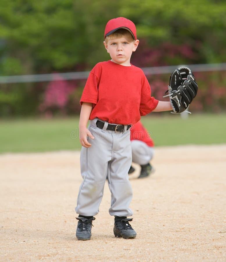 baseballliga little spelare arkivbilder