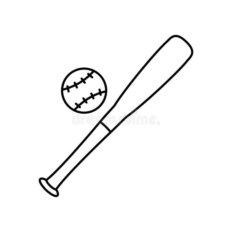 Baseballlinie Ikone stock abbildung