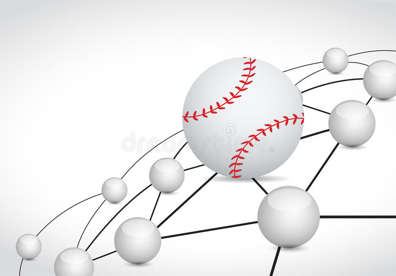 Baseballlinkbereich-Network Connection Konzept stock abbildung