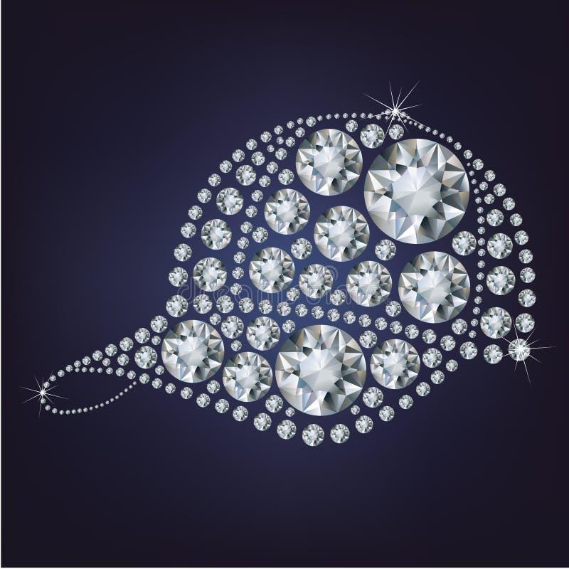 Baseballmütze bildete viele Diamanten lizenzfreie abbildung