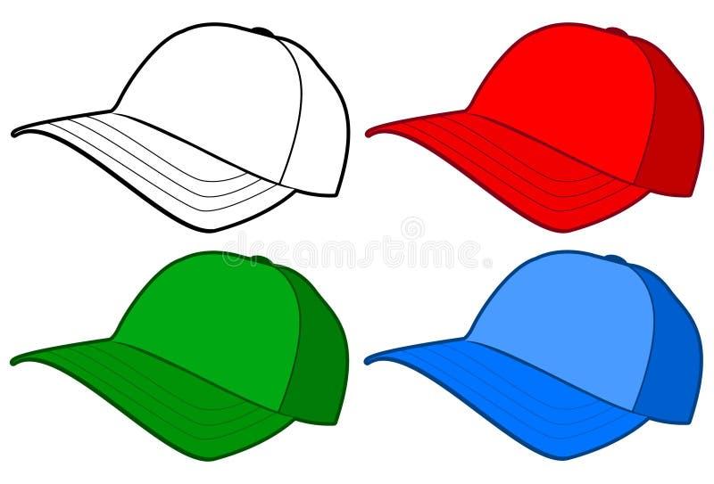 Baseballmütze oder Hut vektor abbildung