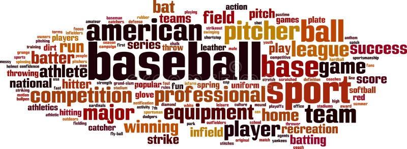 Baseballordmoln vektor illustrationer