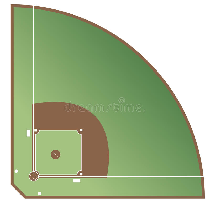 baseballpitch royaltyfri illustrationer
