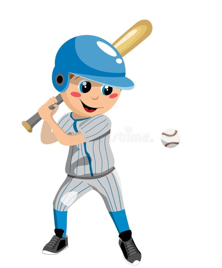 Baseballpojke stock illustrationer