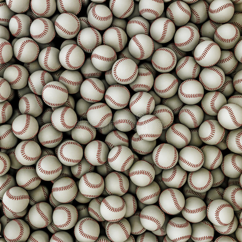 Baseballs background royalty free illustration