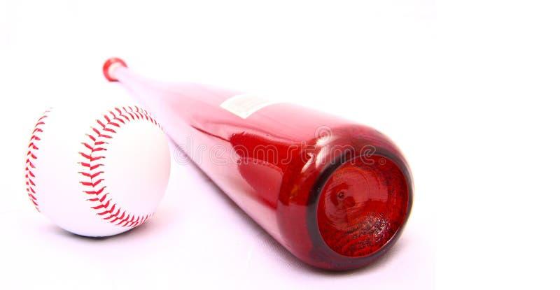 Baseballschläger und Kugel lizenzfreie stockfotografie