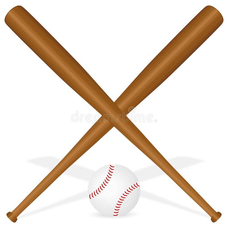 Baseballschläger und Kugel stock abbildung
