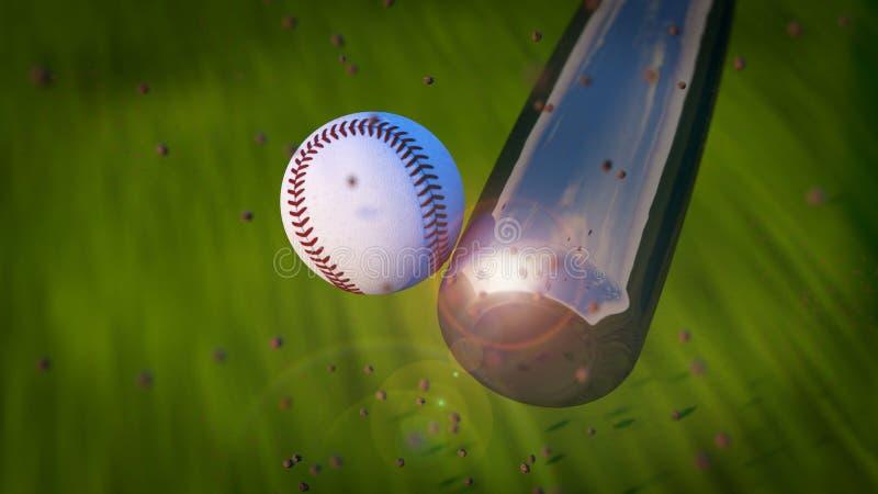 Baseballslag royaltyfri foto