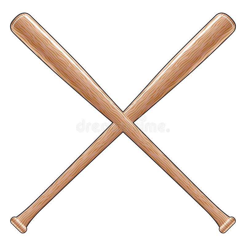 baseballslagträn stock illustrationer